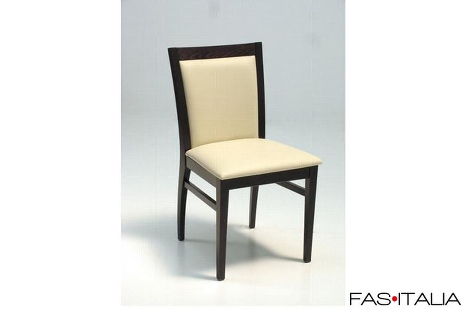 Sedie In Legno Imbottite : Sedia in legno di faggio imbottita in ecopelle ignifuga