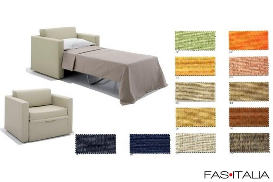 Poltrona letto in tessuto - Poltrona letto divani e divani ...
