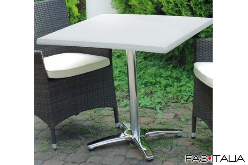 Tavolo quadrato con base in alluminio