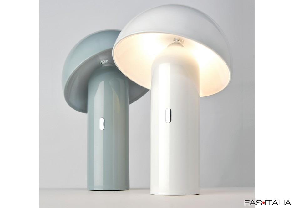 Lampade A Batteria Design.Lampada Da Tavolo A Batteria A Forma Di Fungo