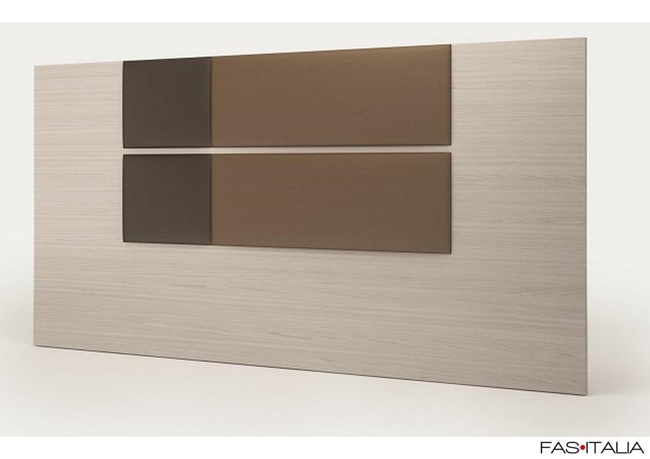 Testata in legno con imbottitura bicolore lux a