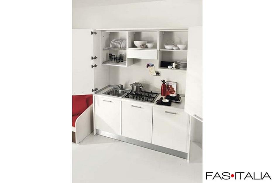 Mini cucina eco monoblocco con ante 125 cm - Mini cucina monoblocco ...