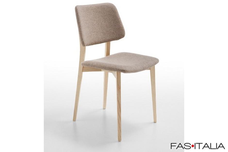Sedie In Legno Imbottite : Sedia imbottita con gambe in legno